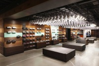 Nike Sportswear footwear display.