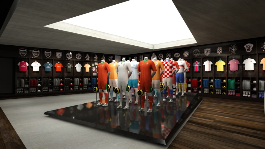 Phase 1: view of replica jersey area.